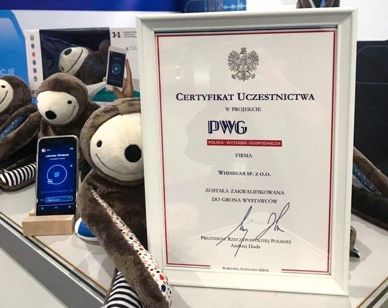 Leniwiec E-zzy od Whisbear na Polskiej Wystawie Gospodarczej