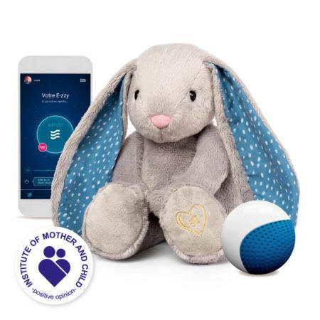 Le lapinou apaisant (Gris) E-zzy avec une application et un détecteur de pleurs CRYsensor
