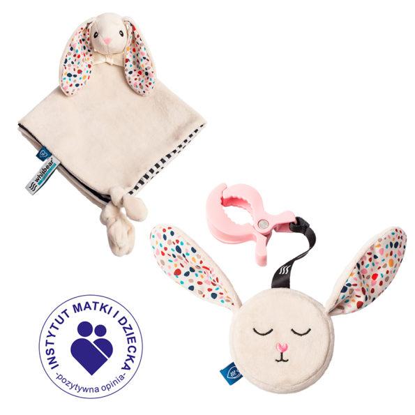 Szumiący Mini Zestaw Felcia dla noworodka (zawieszka i kocyk)