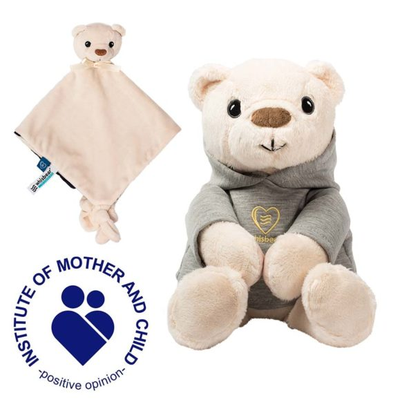 """First Cuddly Toy"" set – Harry the Humming Bear with the CRYsensor + Bear Comfort Blanket"